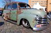 Auch sehr reizvoll: unrestaurierter Chevy Van